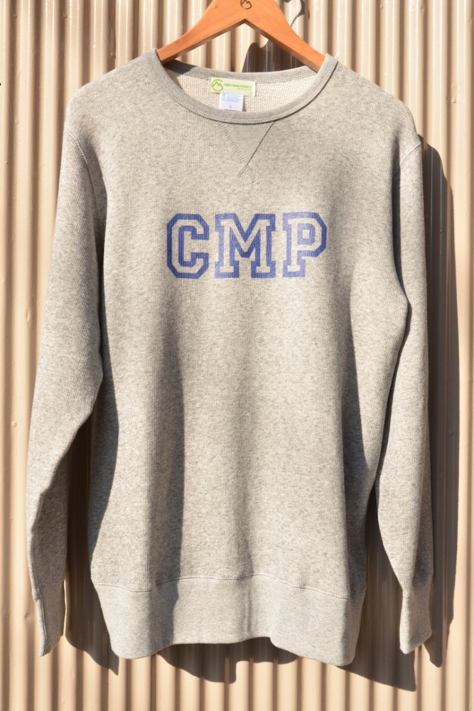 "【WEB限定】CAMP MANIA PRODUCTS / 2016 ""college"" SWEAT (ヘザーグレー)"