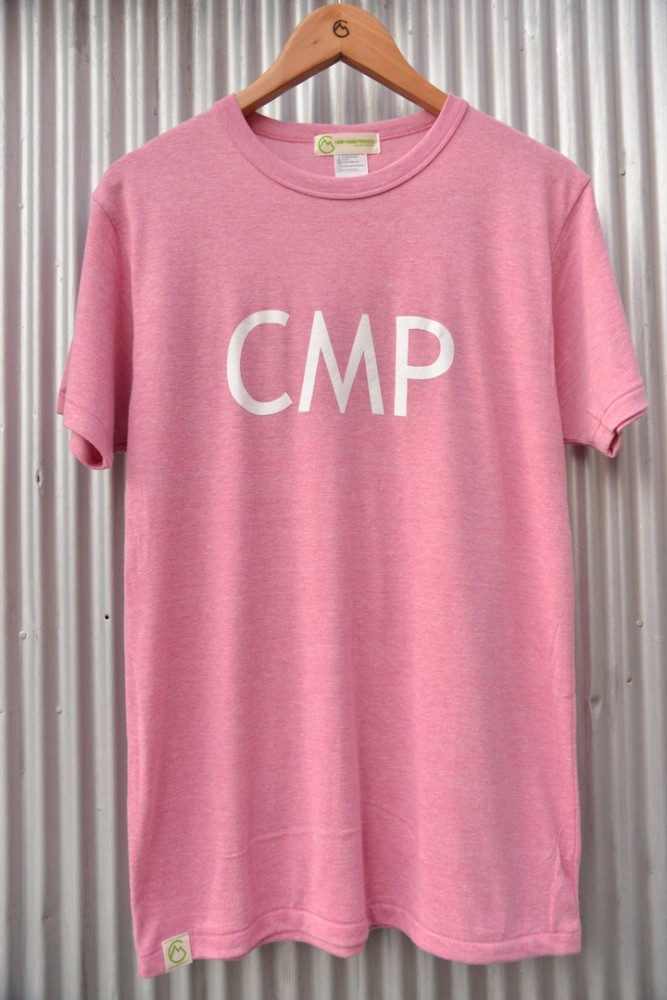 【WEB限定】CAMP MANIA PRODUCTS / CMP LOGO TEE 2015 (ヘザーピンク)